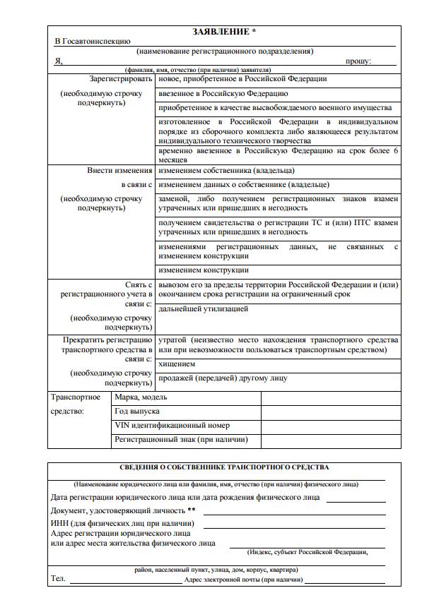 Документы для регистрации автомобиля в гибдд
